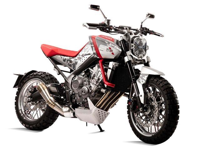 El Honda CBSix50 y CB4 Conceptos: Su moderno día Scrambler y Streetfighter