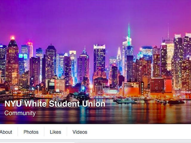 Ce jeudi, nous remercions l'Union des étudiants blancs de l'Université de New York