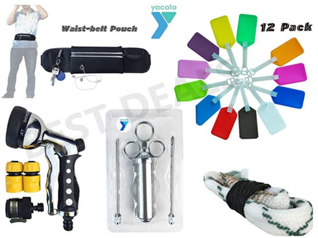 Today's Deals:Waist Bag,luggage Tag, Identification Card,Garden Hose Nozzle,BBQ Meat Injector ,Shotgun Bore Cleaner