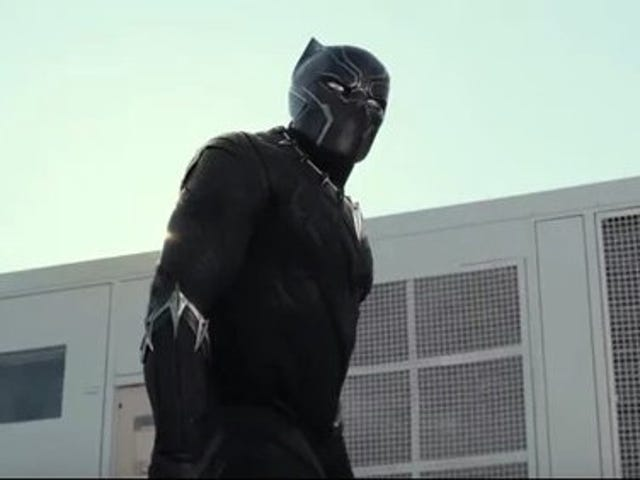 Black Panther in the trailer for Captain America: Civil War