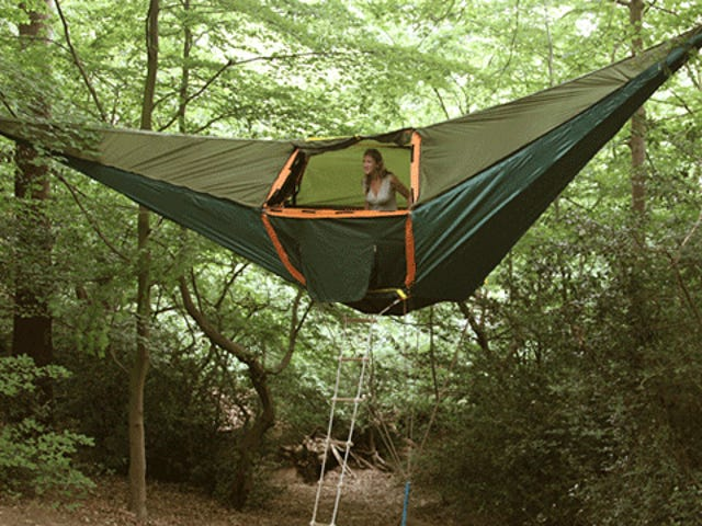 This Hammock Tent Is Like a Swanky Hanging Three Bedroom Apartment