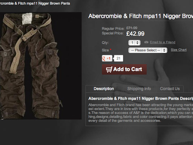 No, Abercrombie Isn't Selling 'N***** Brown' Pants