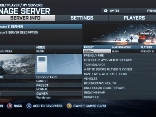 Lease Your Own Little Piece of Battlefield 3 When  Xbox 360 Server Rental Goes Live Today