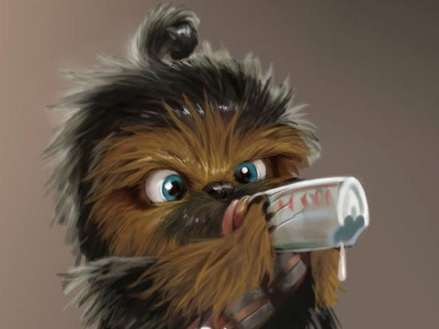Baby Chewbacca isn't too cute to rip your arm off (but he's really cute)