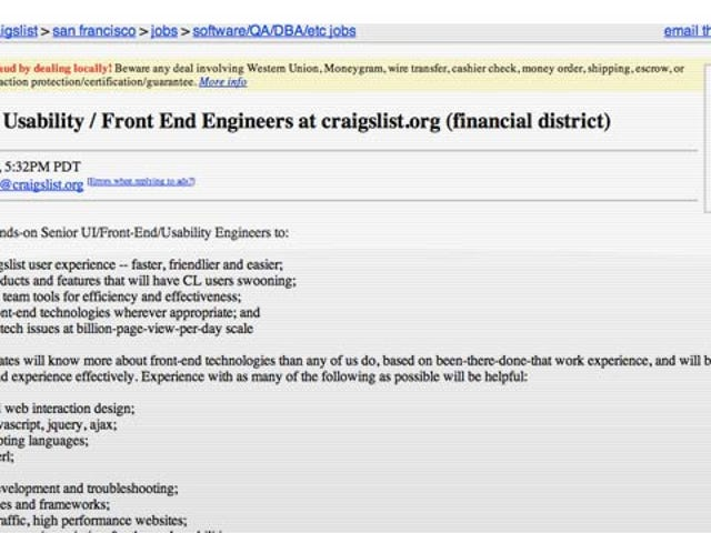 Is Craigslist Going to Redesign Its Layout?