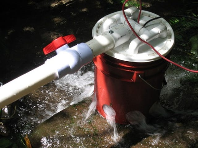 Hydroelectric Bucket Will Gladly Help You Miss the Point of Camping