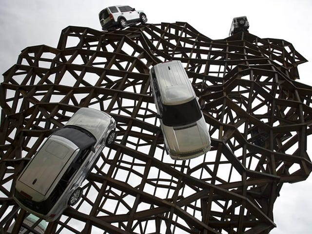 SUV Sculpture Unintentionally Sends the Wrong Message