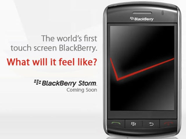 Verizon's BlackBerry Storm Sign-Up Page Is Live