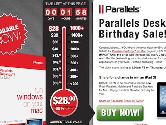 Parallels Desktop 7 for Mac on Sale for $28