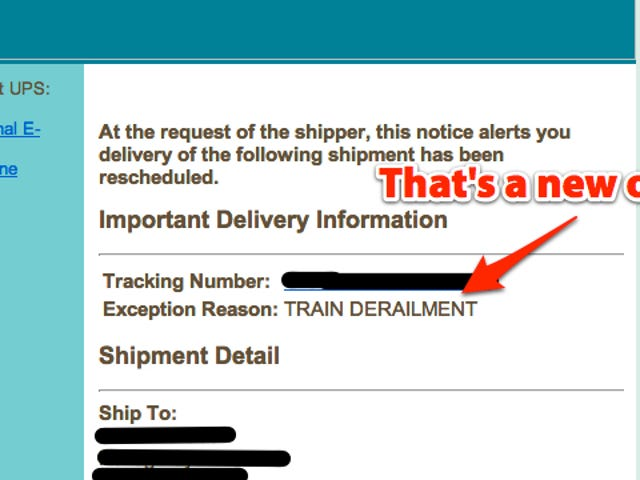 Best Excuse for a Late Package Ever (Updated)