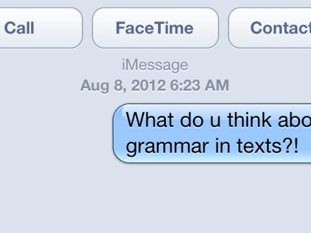 Does Proper Grammar Matter in Text Messages?