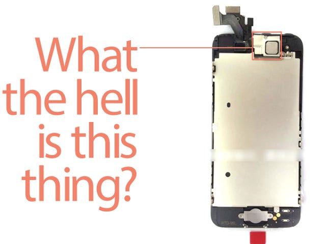 What's That Mysterious Metal Square On the Top of the iPhone 5?