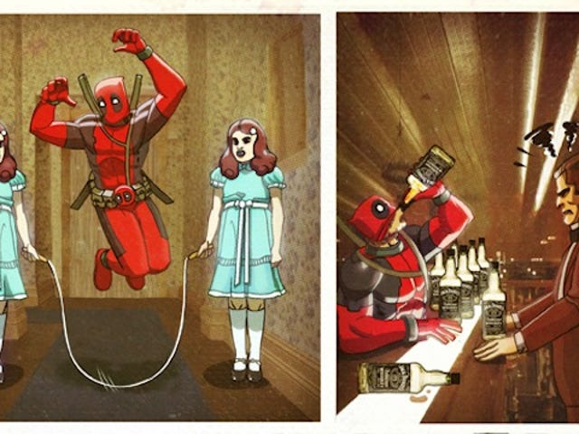 Deadpool surfs a wave of blood in these superhero/Stephen King mashups