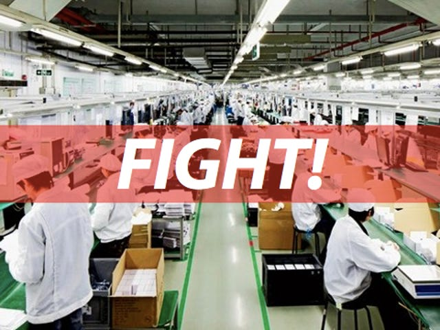 Foxconn Shuts Factory After 2,000-Employee Brawl Breaks Out