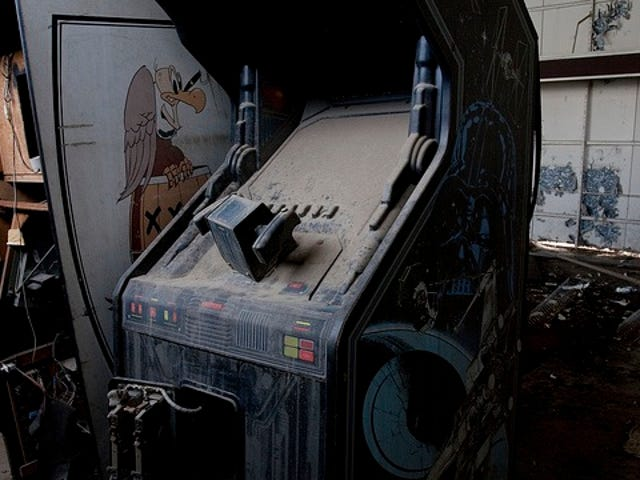 Where abandoned arcade video game cabinets go to die