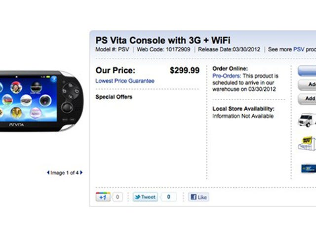 Playstation Vita Is Finally Up for Pre-Order... in Canada?