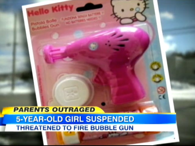 Five-Year-Old Girl Suspended for Making a 'Terroristic Threat' About a Hello Kitty Bubble Gun
