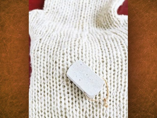 Use a Pumice Stone to De-Pill Sweaters and Jackets