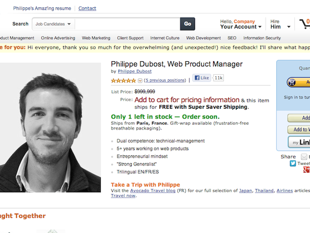 This Clever Resume That Looks Like an Amazon Page Is So Good I Would Buy It