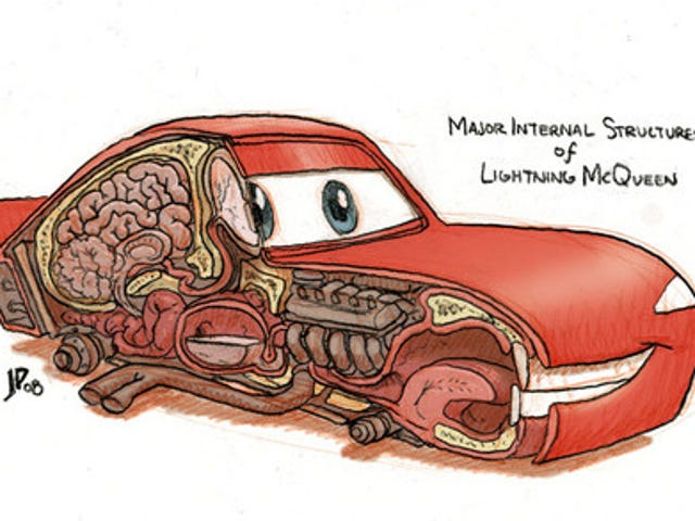 The Major Internal Structures of Lightning McQueen