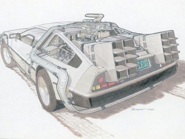 Go Back To The Future With Original Hoverboard And Delorean Concept Art