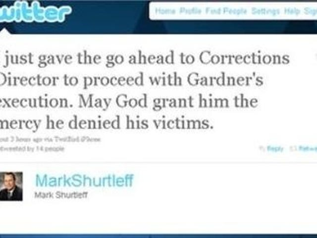 Utah attorney general announces execution on Twitter