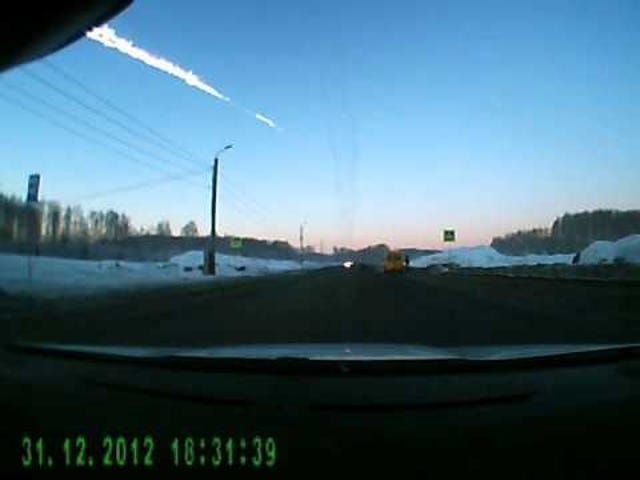 Something happened in Russia today?  It was probably caught on dashcam -- meteor edition