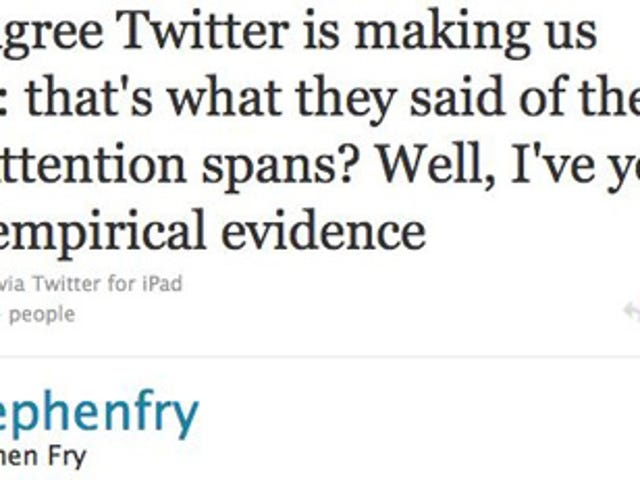 Stephen Fry Comes To Twitter's Defense
