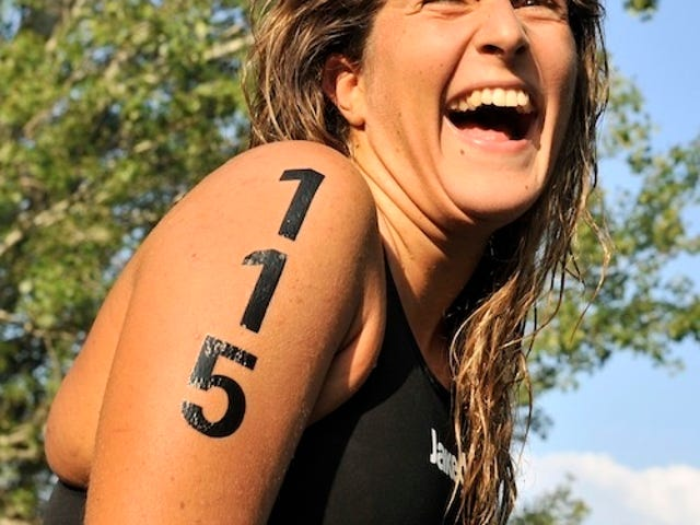 A Swimmer's Joy, Barely Contained