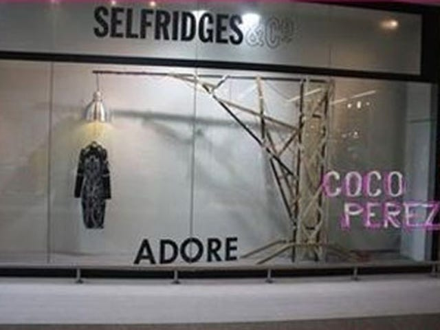 Selfridges Takes Down Tasteless Alexander McQueen Hanging Display