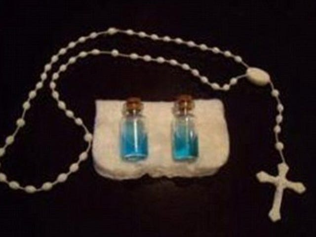 """For Sale: """"Two Captured Ghosts, Trapped Inside Bottles Of Holy Water To Make Them Sleepy"""""""