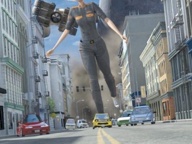 Monsters Vs. Aliens Features 3-D Graphics, Flat Plot