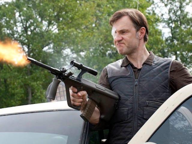 The Governor's evil insanity beats Rick's plain insanity on The Walking Dead