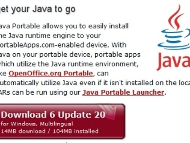 Java Portable Gives Your Portable Apps Java Abilities