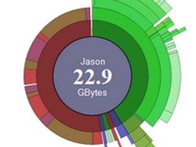 Scanner Displays Disk Usage as a Radial Graph