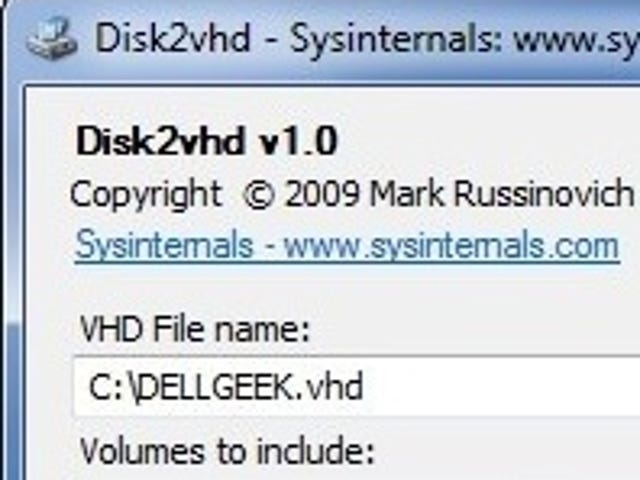 Disk2vhd Turns Your PC Into a Virtual Machine