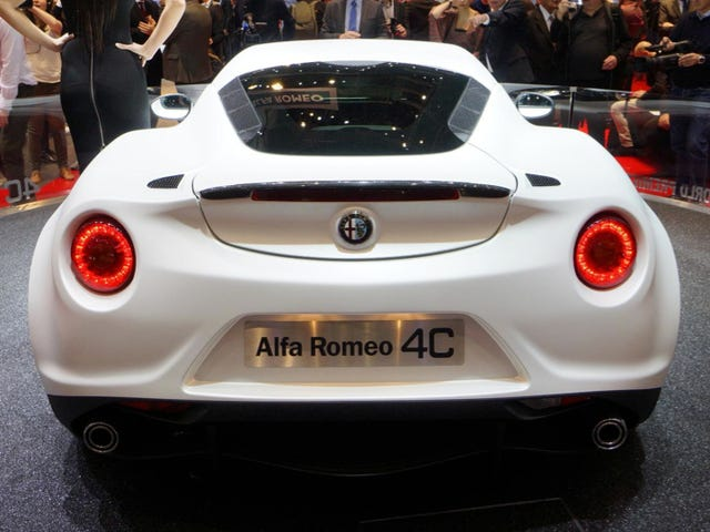 Alfa Romeo 4C:  2,100 Pounds Of Italian Lust