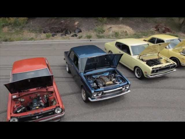 Watch Five Vintage Datsuns Roast Tires In The SoCal Sun