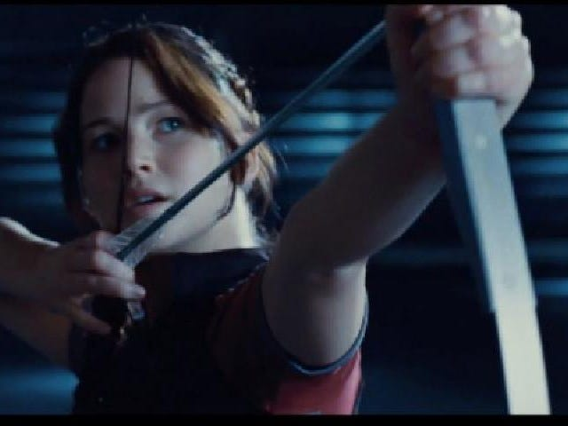 The first clip from The Hunger Games shows Katniss in action