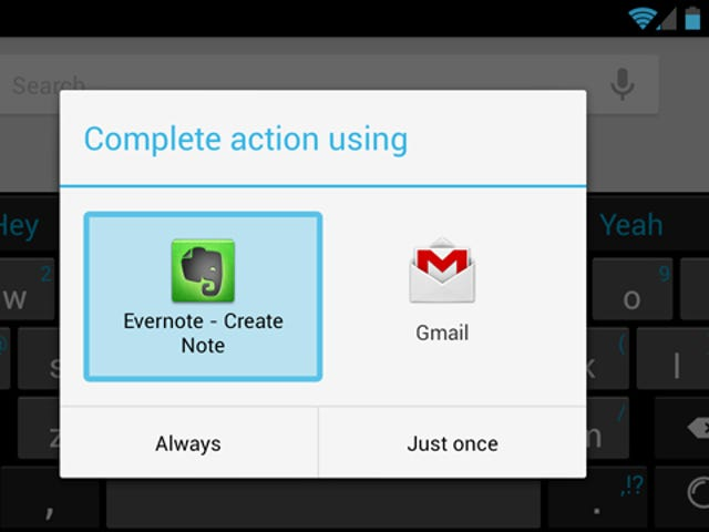 Save a Quick Note to Evernote, Gmail, and Other Apps with Android's Voice Actions