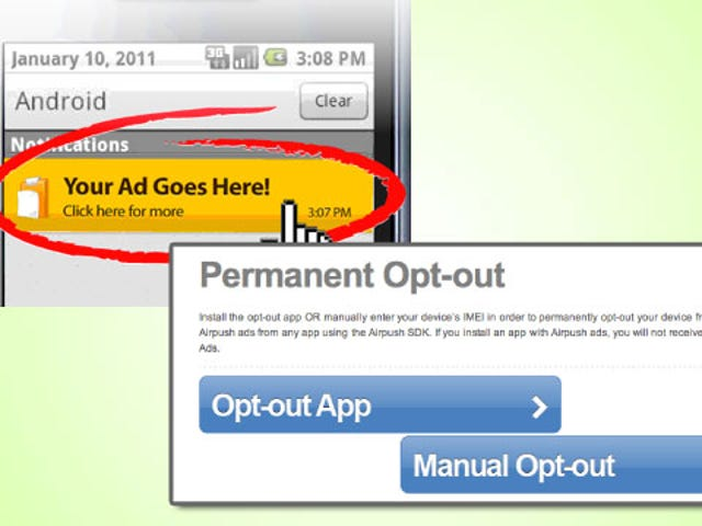 Find and Opt Out of Ads in Your Android Notification Bar