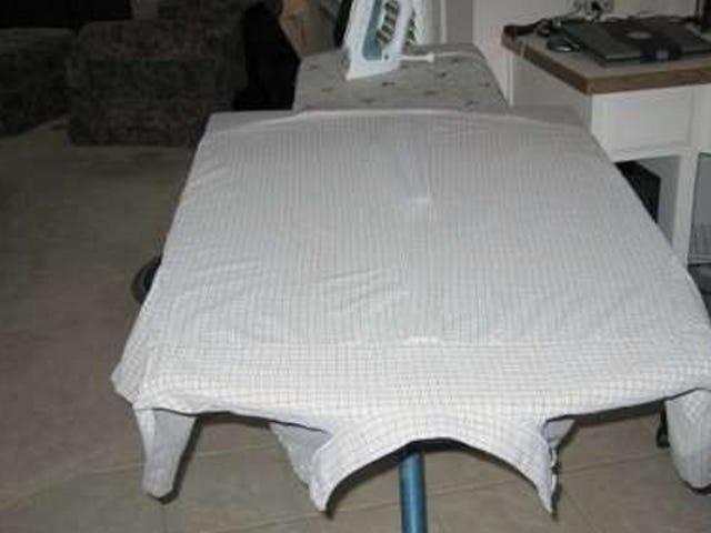 DIY Ironing Board Expansion Churns Through Shirt Ironing