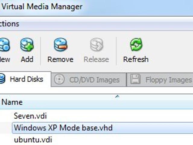 Run XP Mode in VirtualBox Instead of Virtual PC