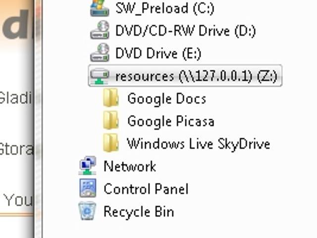 Gladinet Mounts Web Storage Apps as Virtual Drives