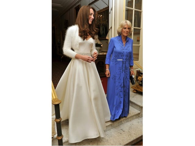 Kate's Evening Dress — And, More Importantly, The Wedding Cake