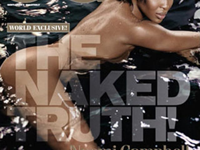 British GQ Features Naomi Campbell Nude, Floating In A Pool