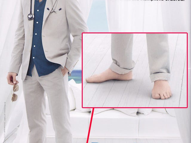 Actor's Hairy Feet Get A Photoshop Depilatory
