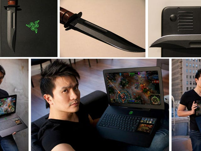 Razer's Combat Knife-Inspired Blade Gaming Laptop Will Be Home For Christmas