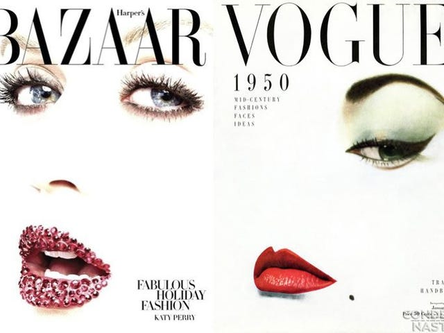 Harper's Bazaar And Katy Perry Riff On Iconic 50s Vogue