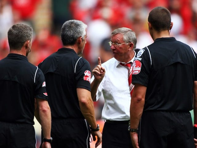 Man U Manager Alex Ferguson Charged With Earnestly Complimenting A Referee